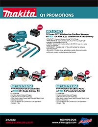 Q1 Promos from Makita